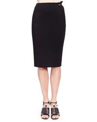 Lanvin Side Metal Detail Jersey Skirt