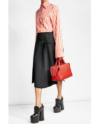 Carven Skirt With Lace Up Detail