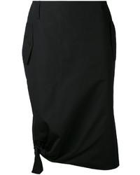 Max Mara Tie Detail Draped Skirt