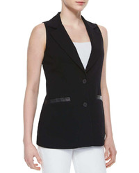 Bailey 44 Attore Faux Leather Trim Vest Black