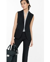 Express Black One Button Vest