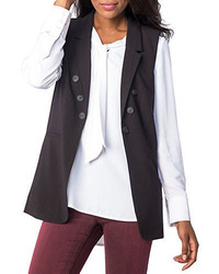 Kensie Button Accented Stretch Vest