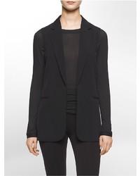 Calvin Klein Soft Crepe Sleeveless Blazer
