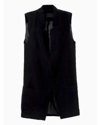 Choies Black Sleeveless Waistcoat