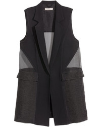 H&M Long Vest Black Ladies