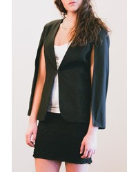 Sparrow Black Cape Blazer