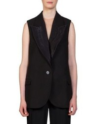 Lanvin Textured Mixed Media Vest