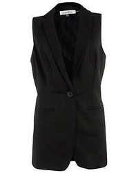 Calvin Klein Textured Notch Sleeveless Blazer
