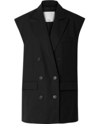 Tibi Tropical Double Breasted Crepe Vest