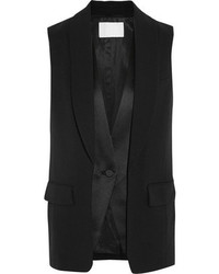 Alexander Wang Wool Blend And Satin Vest