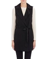 Barneys New York Clara Trench Vest Black Size S