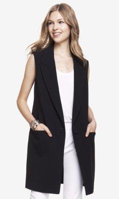 Express Sleeveless Coat | Where to buy & how to wear