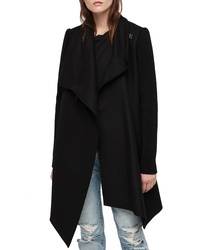 AllSaints Monut Ribbed Sleeve Coat