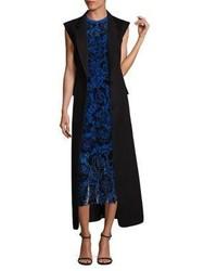 DKNY Sleeveless Bonded Wool Overcoat