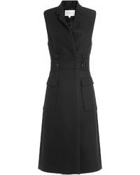 Carven Sleeveless Cotton Coat With Virgin Wool