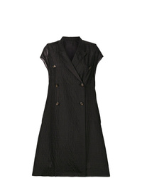 Rick Owens Textured Double Breasted Short Sleeve Coat