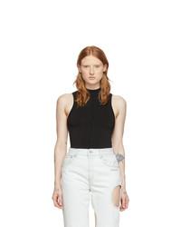 Off-White Black Open Back Short Jumpsuit