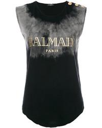 Balmain Branded Sleeveless Top
