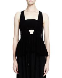 Chloe sleeveless bandeau babydoll top black medium 695394