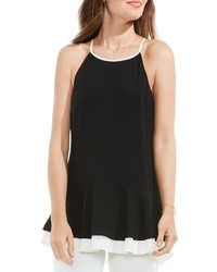 Vince Camuto Colorblock Halter Style Top