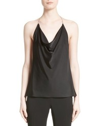 Satin cowl neck halter top medium 5308952