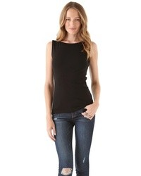 Sleeveless boat neck top medium 18537