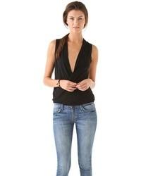 Surplice pullover top medium 18539