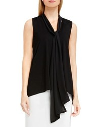 Tie v neck sleeveless top medium 740160