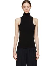 Calvin Klein Collection Black Geometric Sleeveless Turtleneck