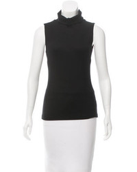 L'Agence Sleeveless Turtleneck Top