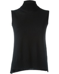 Turtleneck sleeveless knitted top medium 535756
