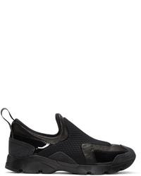 MM6 MAISON MARGIELA Black Panelled Slip On Sneakers