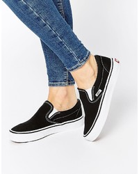 Vans Classic Black Slip On Sneakers