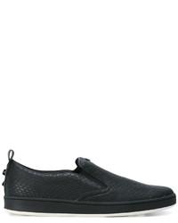 Armani Jeans Embossed Slip On Sneakers