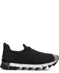 Dolce & Gabbana Ibiza Neoprene Slip On Sneakers Black