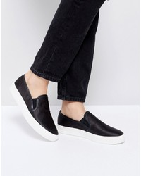 Faith Karlie Black Slip On Sneakers
