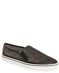 Kate Spade New York Sallie Metallic Mesh Slip On Sneaker