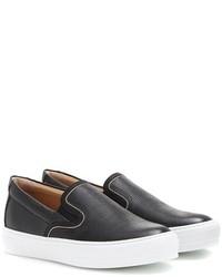 Salvatore Ferragamo Pacau Lux Embossed Leather Slip On Sneakers