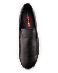 prada leather slip on sneaker