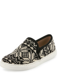 Splendid Seaside Fair Isle Slip On Sneaker Black