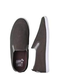Vans Siders Surfjitsu Hemp Slip On Sneakers Distressedcharcoal 65