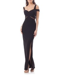 JS Collections Cold Shoulder Gown