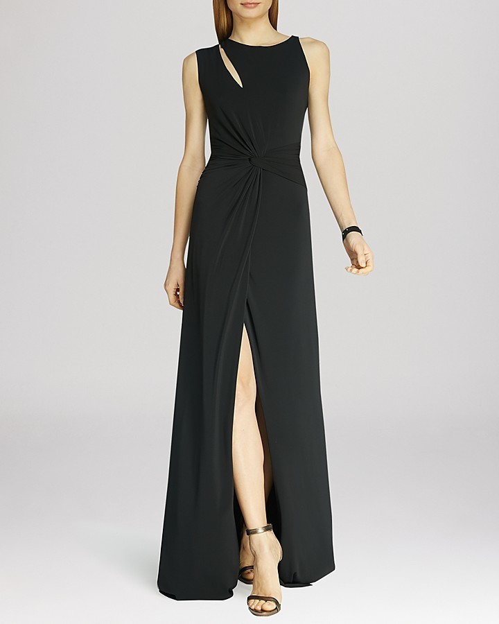 Halston Heritage Cutout Jersey Gown   Where to buy & how to wear
