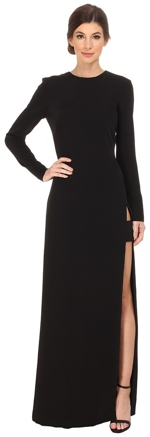 7dcbe3dd531 ... Jill Jill Stuart Long Sleeve High Side Slit Gown ...