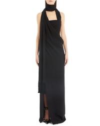 Versace Side Drape Gown