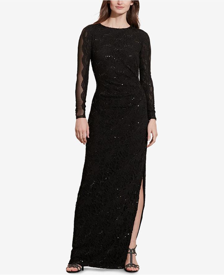 Lauren Ralph Lauren Sequined Lace Gown | Where to buy & how to wear