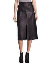 Rebecca Taylor Leather A Line Skirt