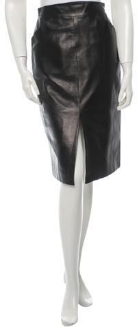 Thierry Mugler Leather Skirt | Where to buy & how to wear
