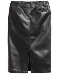 H&M Imitation Leather Pencil Skirt