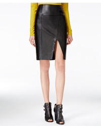 GUESS Jagger Faux Leather Pencil Skirt